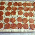 Unbaked pizza