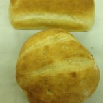 Round bread and sandwich bread