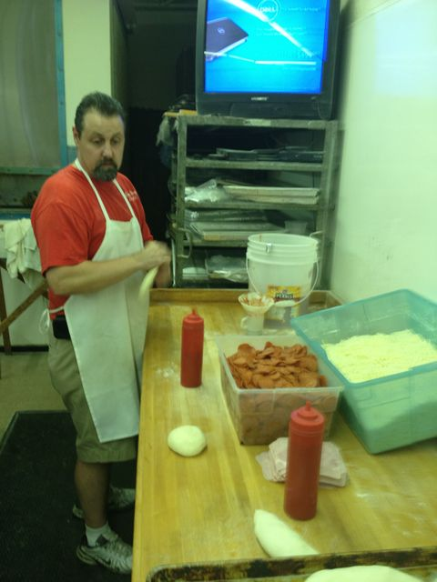 Tony making hoagies